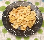 Chips of bananas Stock Image