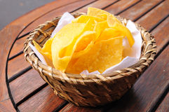 Chips in basket Stock Photos
