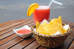 Chips in basket Royalty Free Stock Images