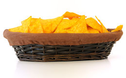 Chips in basket Stock Photo