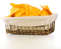 Chips in basket Stock Photography