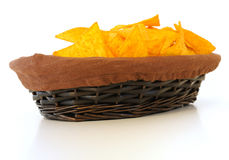 Chips in basket Royalty Free Stock Photo