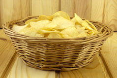 Chips in a basket Stock Photos