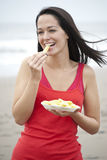 Chips at the beach Royalty Free Stock Image