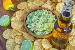 Chips Beer Dip Royalty Free Stock Photography