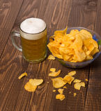Chips and beer Royalty Free Stock Photo
