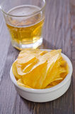 Chips and beer Stock Photography
