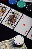 Chips bet on poker Stock Images