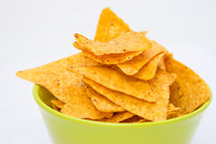 Chips in a bowl Royalty Free Stock Images
