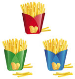 Chips in a box. A illustration of chips in a different colored box Royalty Free Stock Images