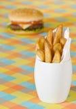 Chips & Burger Royalty Free Stock Photos