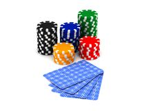 Chips and cards Royalty Free Stock Image