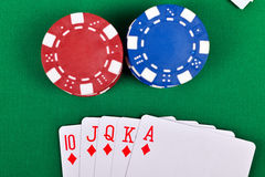 Chips and cards Stock Images