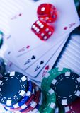 Chips & Casino Stock Photography