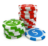Chips from casino game Royalty Free Stock Photography