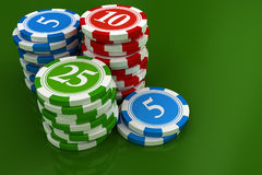 Chips from casino game Royalty Free Stock Image