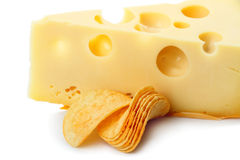 Chips and cheese Stock Photo