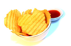 Chips and Chili Paste Stock Photography