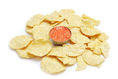 chips and chili Royalty Free Stock Photos