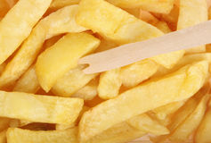 Chips with Chip Fork Takeaway Royalty Free Stock Images