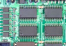 Chips and components with circuit board Stock Photography