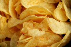 Chips or crisps cloe up backdrop Stock Photography