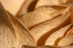 chips den crispy potatisen Arkivfoto