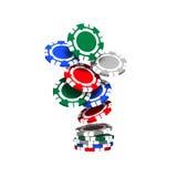 chips den färgrika poker Arkivfoto