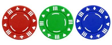 chips den färgrika poker Royaltyfri Foto