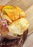 chips den kryddiga potatisen Royaltyfri Fotografi
