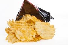 Chips in der Tasche Stockbild