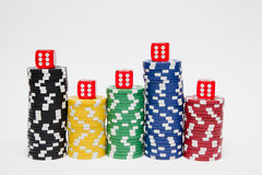 Chips and dice Royalty Free Stock Photo