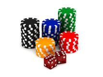 Chips and dices Stock Photography