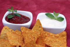 Chips and dip Stock Photography
