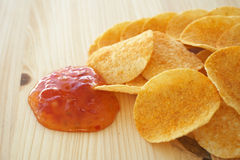 Chips and dip stock images