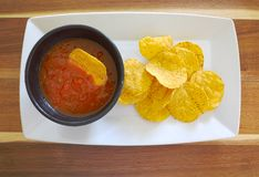 Chips and Dip Royalty Free Stock Photography