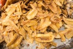 Chips doux de banane photographie stock libre de droits