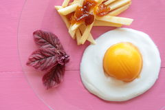 Chips with egg Stock Photos