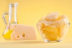 Chips en kaas ab Royalty-vrije Stock Afbeeldingen