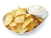 Chips en onderdompeling royalty-vrije stock afbeelding