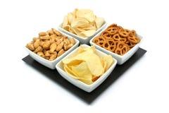 Chips en snacks Royalty-vrije Stock Afbeeldingen