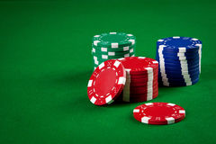 Free Chips For Poker Stock Photos - 25244393
