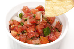 Chips and Fresh salsa in a bowl Stock Images