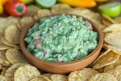 chips guacamole Fotografering för Bildbyråer