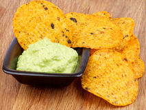 Chips and Guacamole Royalty Free Stock Photo
