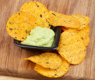 Chips and Guacamole Stock Photo
