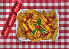 Chips with Holly Royalty Free Stock Image