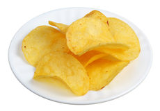 Chips In A White Plate