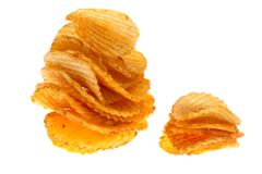 Chips isolated Royalty Free Stock Image