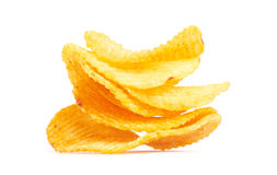 Chips isolated on white Royalty Free Stock Photo